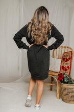 One fine day sweatshirt dress in charcoal