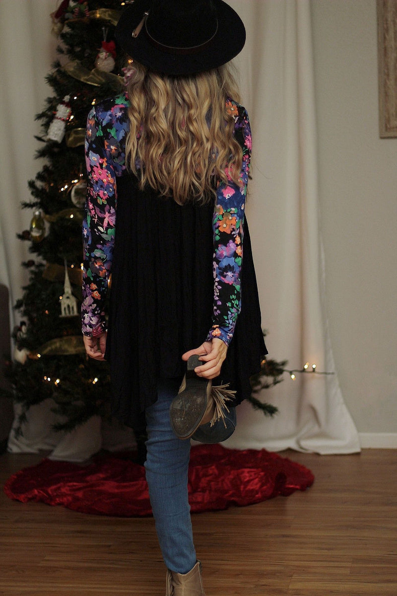 Sweet nothings floral tunic top