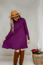 Sitting pretty dress in plum