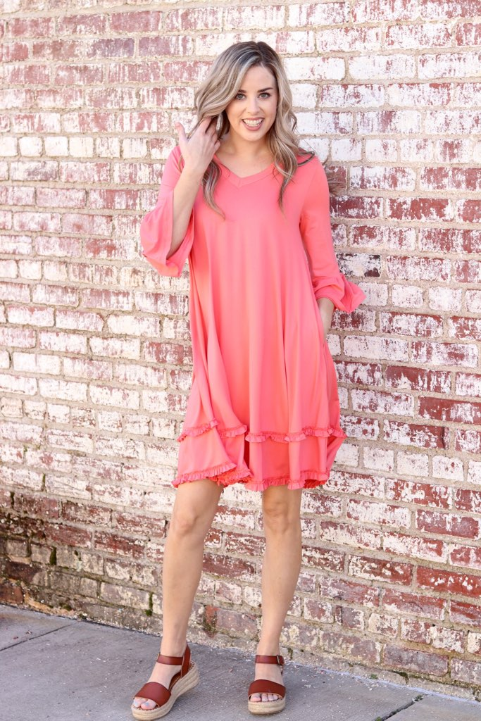 Into The Sunset Dress In Coral