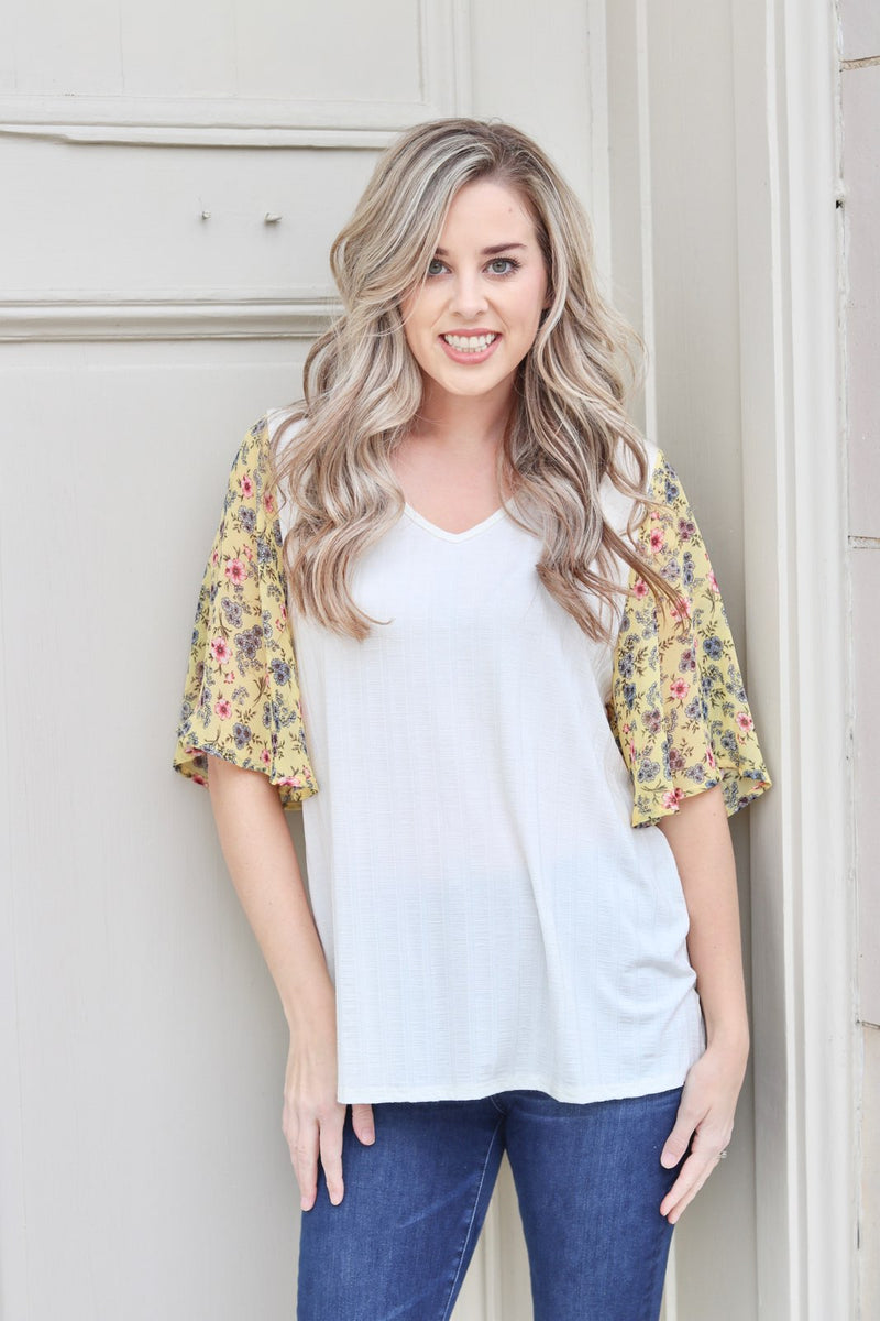 Give Them Something To Talk About Flutter Sleeve Top