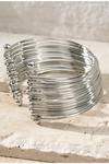 Lux layered bangle bracelet in silver