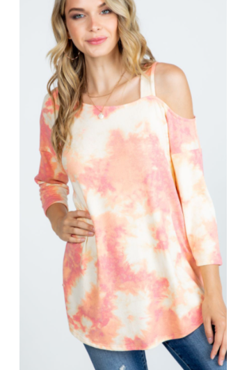 Just Peachy Strappy Shoulder Top