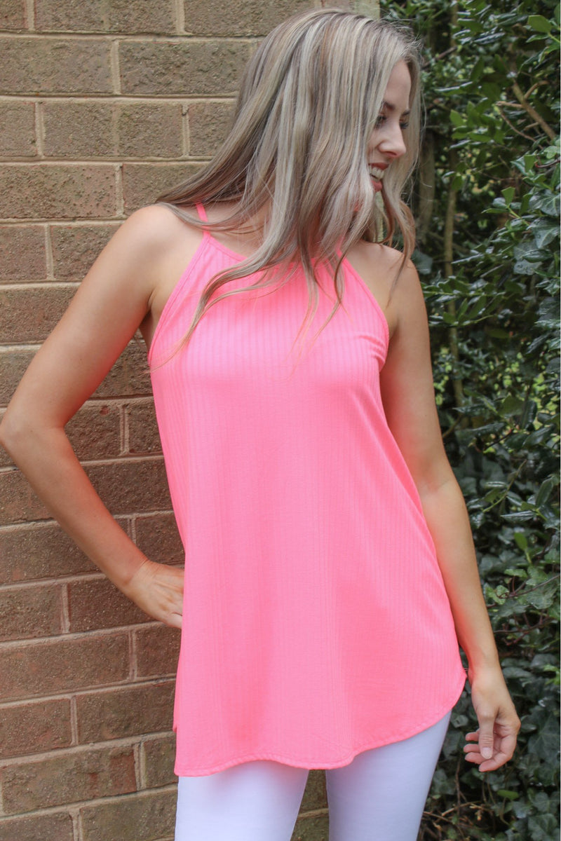 Forever Pink Ribbed Tank