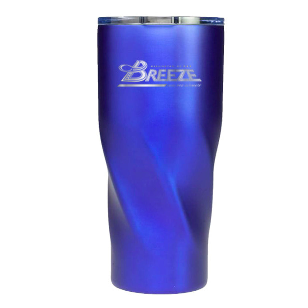 Stainless Steel Blue Hot/Cold Tumbler