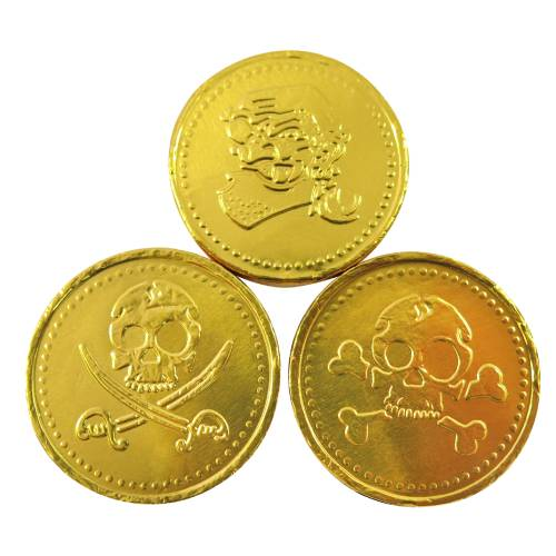 Milk Chocolate Gold Pirate Coins - 1kg