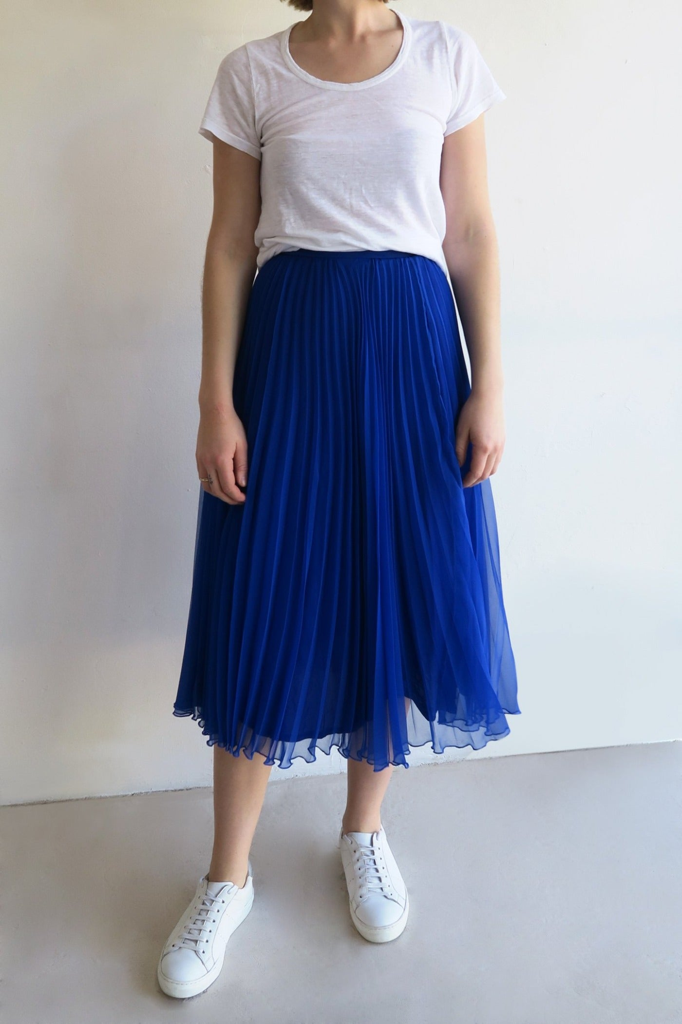 1950s Pleated Midi Skirt
