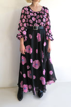 Load image into Gallery viewer, 1970s Pink Floral Maxi Dress
