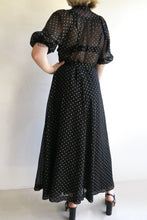 Load image into Gallery viewer, 1970s Polka Dot Midi Dress