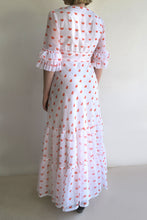 Load image into Gallery viewer, 1970s Ruffle Maxi Dress