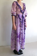 Load image into Gallery viewer, 1970s Floral Ruffle Maxi Dress