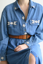 Load image into Gallery viewer, 1980s Denim Midi Dress