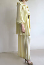 Load image into Gallery viewer, 1980s Silk Pleated Maxi and Cape Set