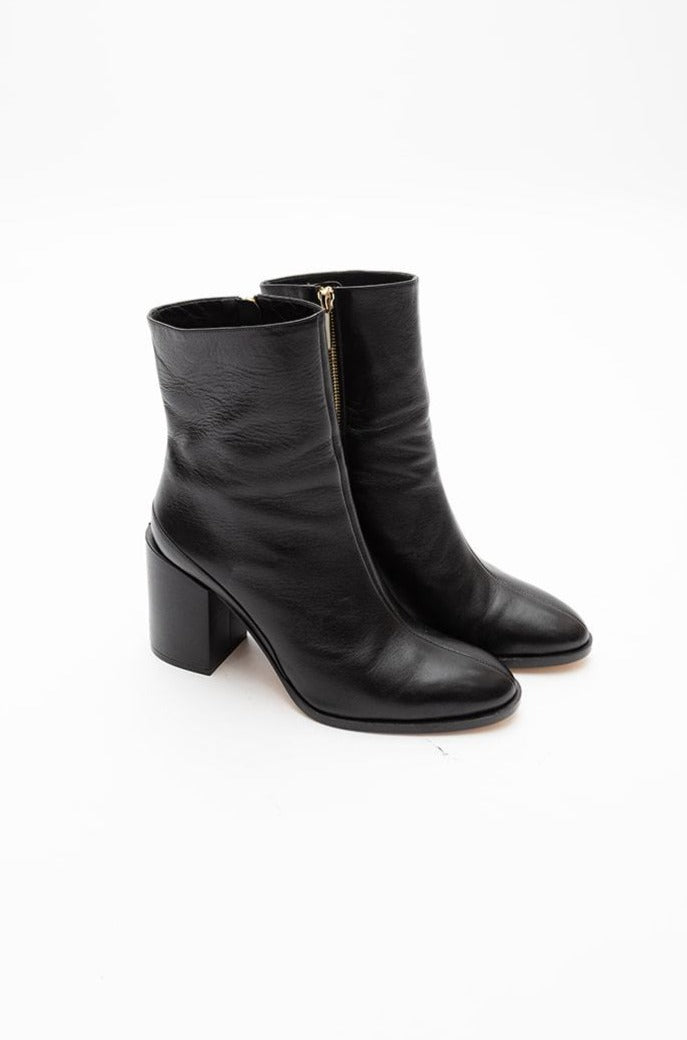 Dear Frances Black Leather Boot