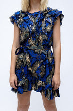 Load image into Gallery viewer, Isabel Marant Blue Printed Mini Dress