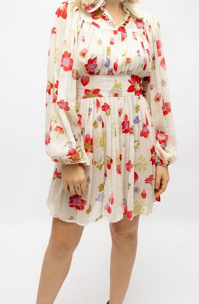 Vintage Floral Balloon Style Dress