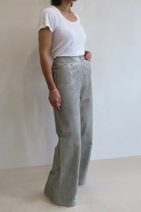 Chanel Vintage Leather Flared Pants