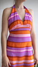 Load image into Gallery viewer, Vintage Colourful Halter Neck Dress