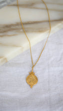 Load image into Gallery viewer, Gold Plated Double Coin Necklace