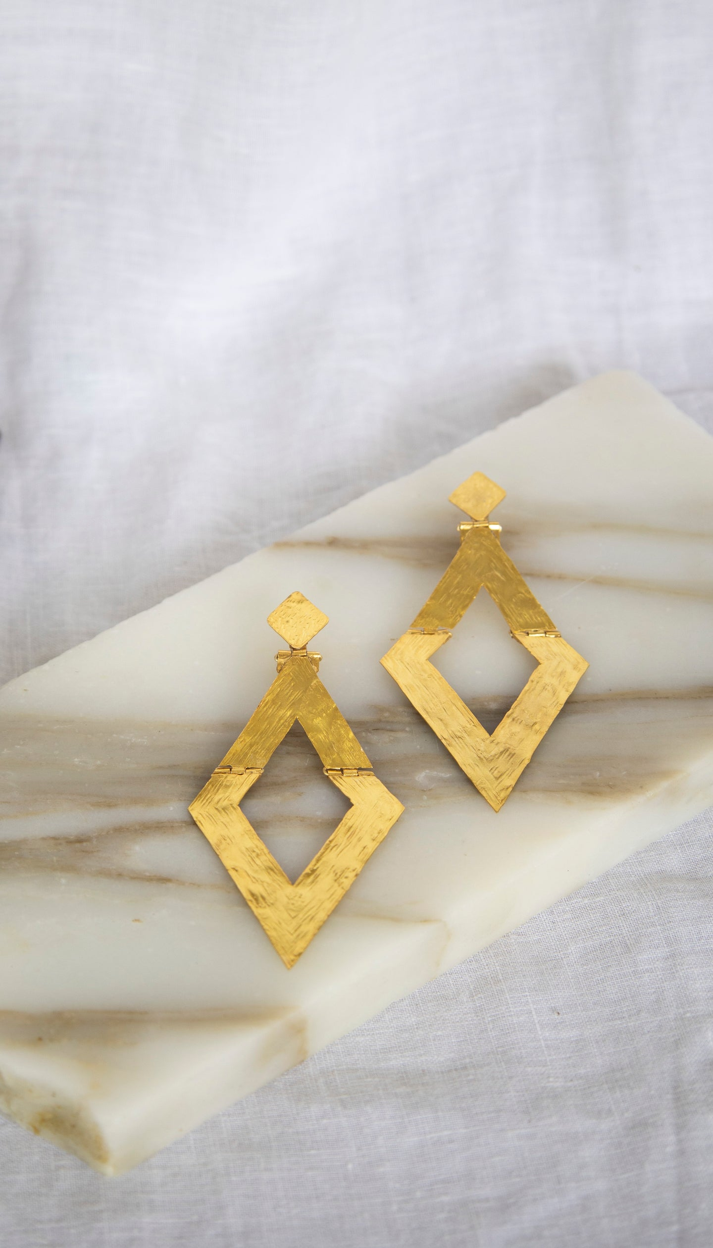 Gold Plated 'Diamond' Earring