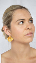 Load image into Gallery viewer, Gold Plated 'Sunflower' Earring