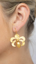 Load image into Gallery viewer, Gold Plated 'Scarab' Earring