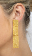 Load image into Gallery viewer, Gold Plated 'Rectangular Drop' Earring