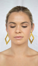 Load image into Gallery viewer, Gold Plated 'Diamond' Earring