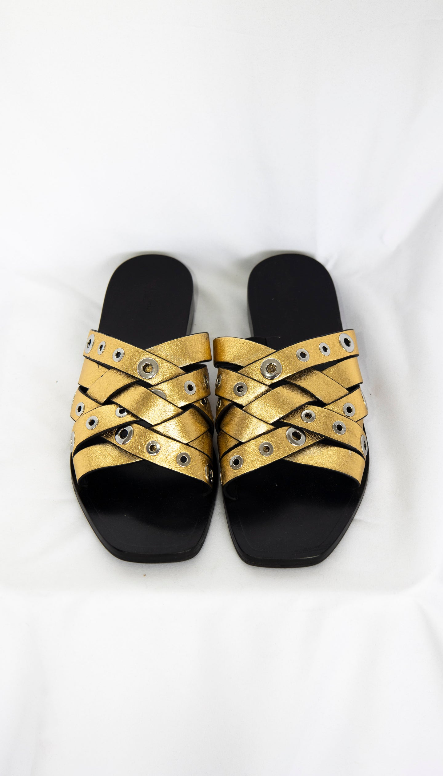 Rag & Bone Gold Metallic slide