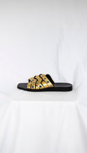 Load image into Gallery viewer, Rag & Bone Gold Metallic slide