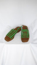 Load image into Gallery viewer, By Far Green Sandal