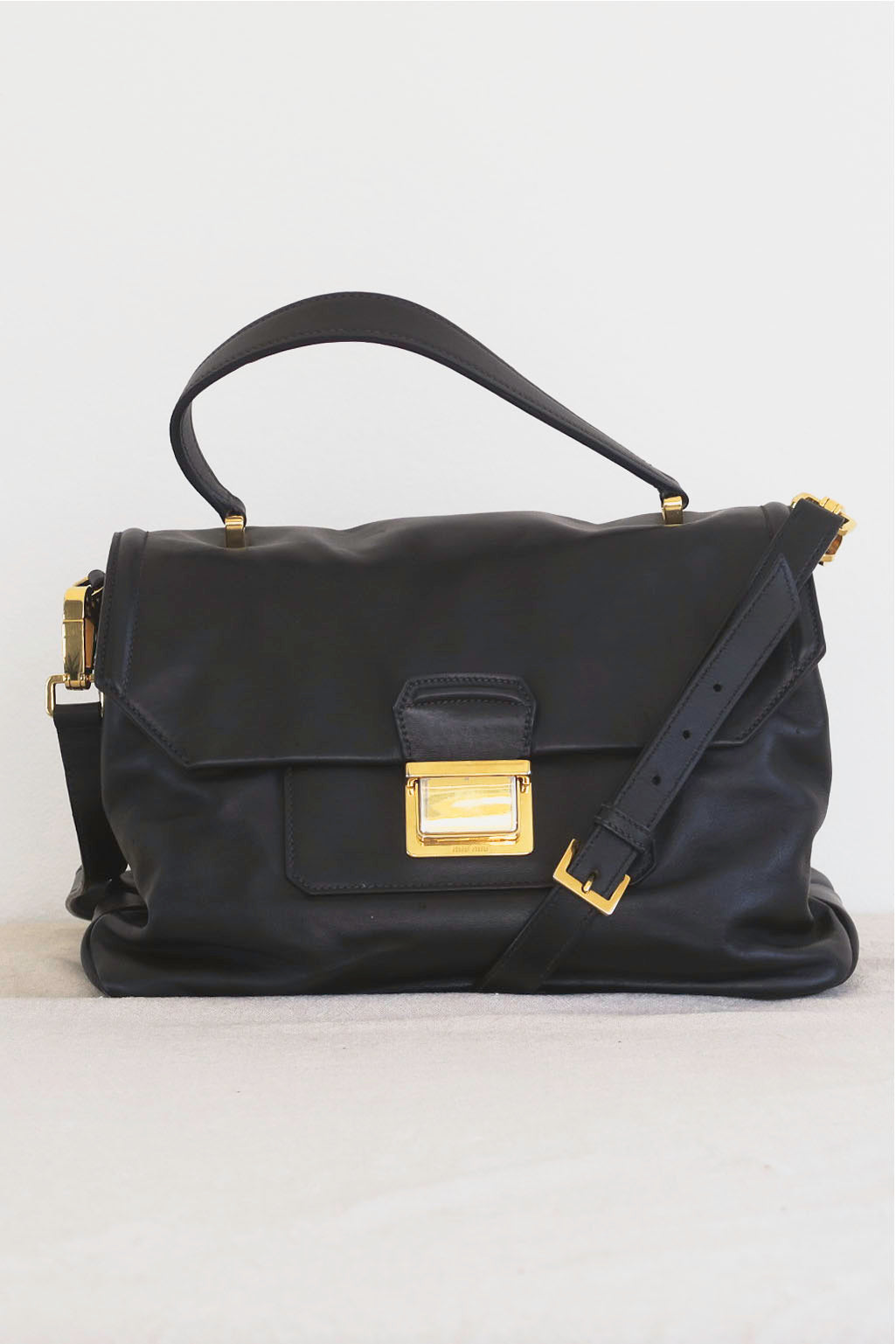 Miu Miu Black Leather Bag