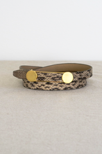 Load image into Gallery viewer, Faux Python Buckle Belt