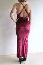 Load image into Gallery viewer, Vintage Velvet Cross Back Dress