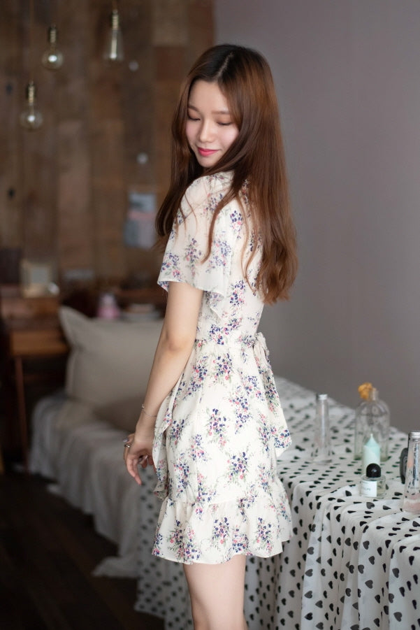 Soft Spring Wrap Dress