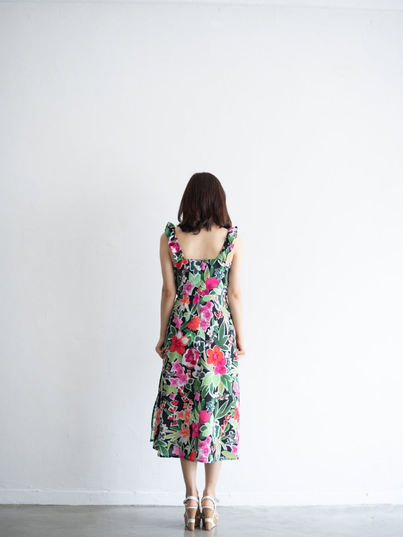 All Colorful Flower Printed Dress