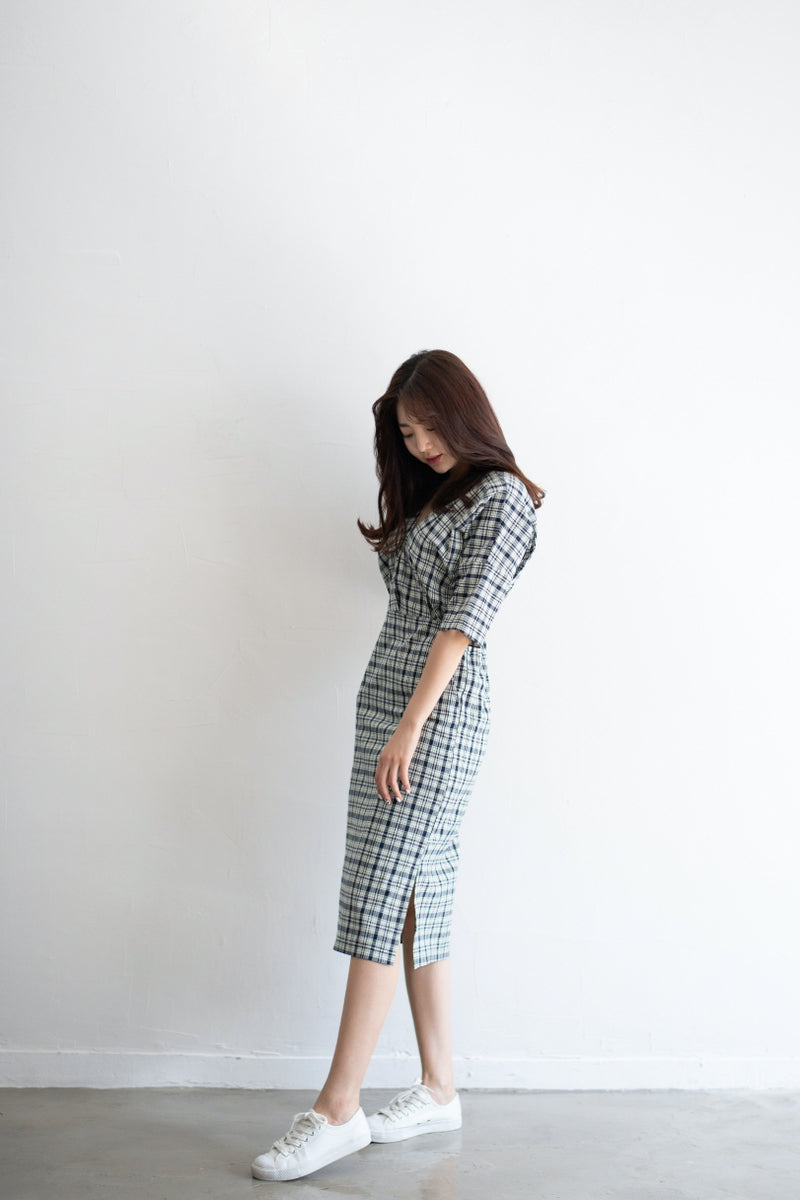 Comfy Casual Checked Dress