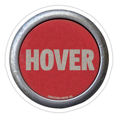 Aviator Hover Button Sticker - white matte