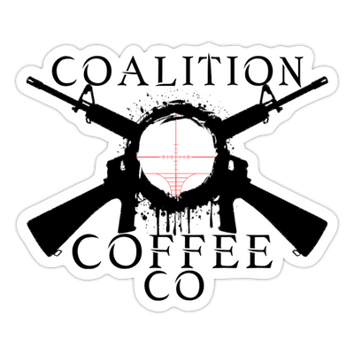 Coalition Right on Target Sticker - white matte