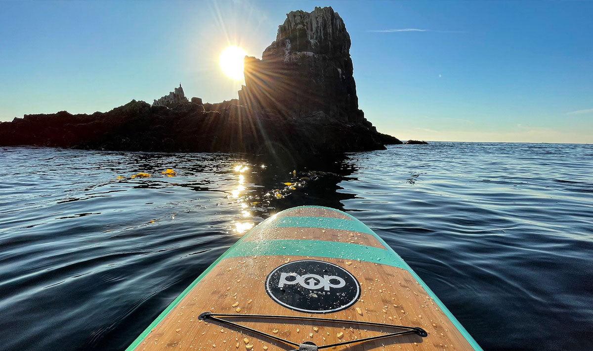 Paddle board out in the sun