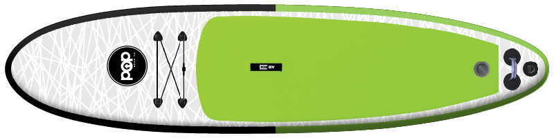 The POP Up board in green and black