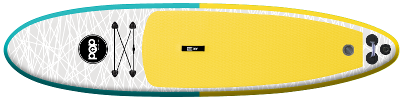 The Pop Up Board in yellow/turquoise