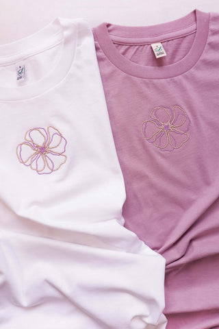 STELLAR FLOWER Embroidered T-shirt Unisex