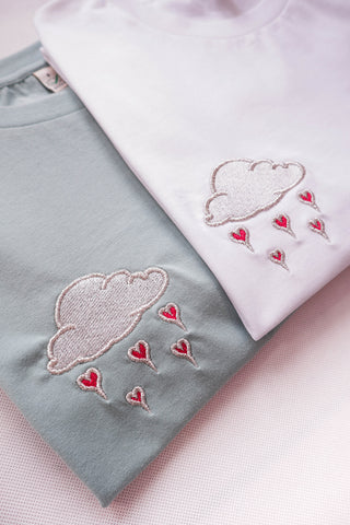 CLOUD OF LOVE Embroidered T-shirt Unisex