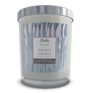 Scented Candle - Pink Fizz & Grapefruit - Bull Rushes