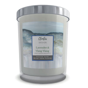 Scented Candle - Lavender, Ylang Ylang and Geranium - Heather Mountain