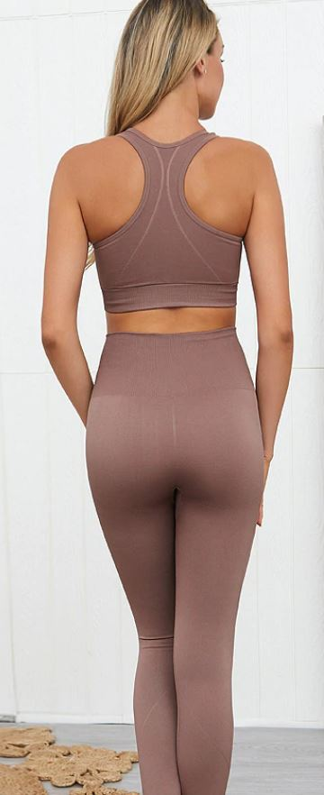 Sleeveless Yoga / Gym Sportswear Set (2 piece & Separates)