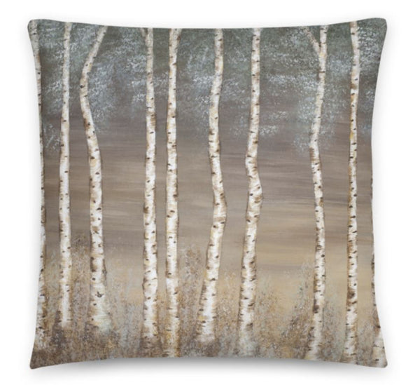 Morning Aspen Designer Cushion. Throw Pillow. Includes cushion Cover and Insert. Green