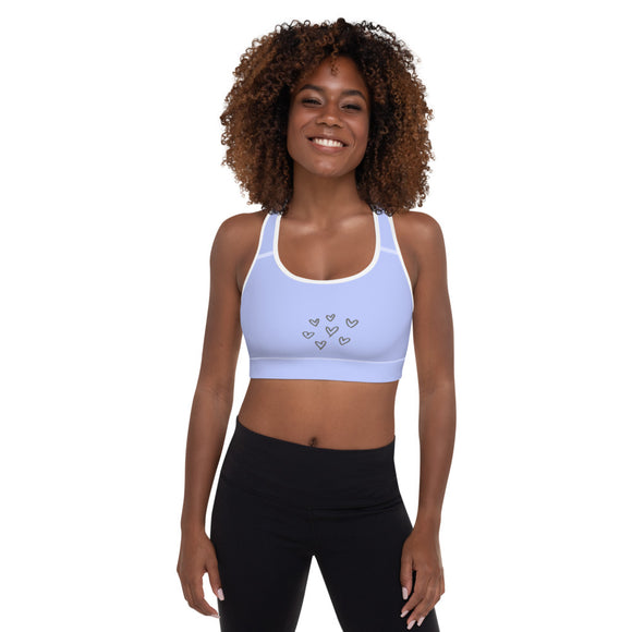 Padded Sports Bra Baby. Blue Aspen Sports Wear