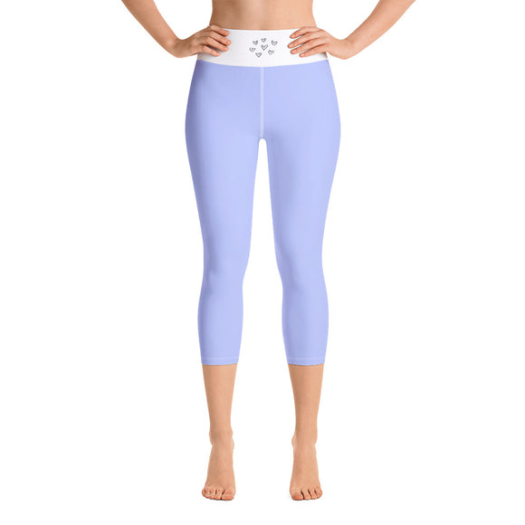 Yoga Capri Leggings Baby Blue. Sports Gear Aspen Wear